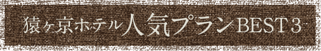 猿ヶ京ホテル人気プランBEST3